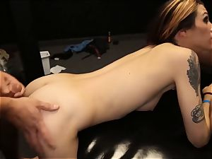 Ivy gets five creampies at once in a gangbang