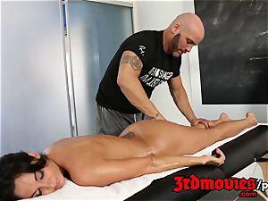 Ava Addams sensual massage