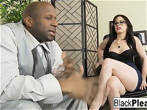 She receives an bi-racial internal ejaculation