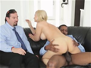 greedy wifey Sarah Vandella gets her appetite suppressed by bbc