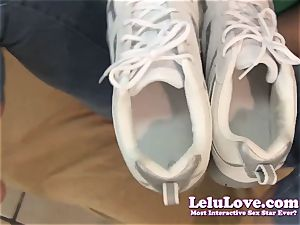 Lelu Love-POV Footjob cum In Sneakers