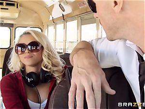 super-naughty hitchhiker Marsha May plumbing sizzling bus driver