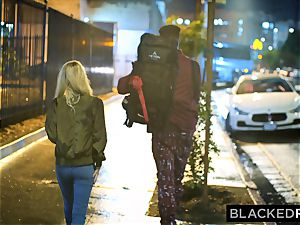 BLACKEDRAW Out Of Town teen Gets Picked Up By two intense dark-hued fellows