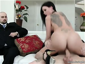 Exotic Swinger wife boinks Another man