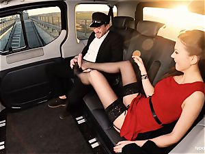 pulverized IN TRAFFIC - british Tina Kay pounded in the car