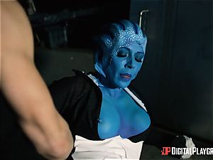 Space pornography parody with super-hot alien Rachel Starr