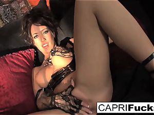 Capri demonstrates off her pretty feet