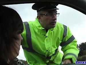 Caught jerking mature plumbs patrol cop
