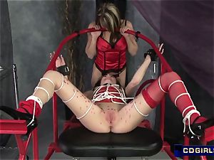 super-sexy dom wax and electrical play to encite orgasmic bliss