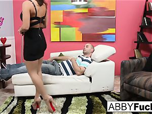 Therapist Abigail does extra service