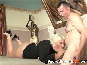 blond plus-size plowed Real stiff