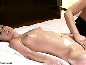 obscene masseur entices her pal Jennifer white