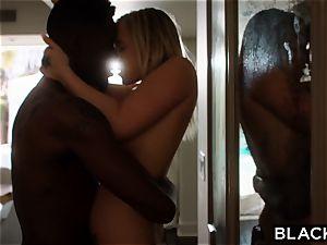 BLACKED super-hot blondie Secretly bangs Her roomies boyfriend