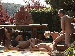 Outdoor fucky-fucky fun and pornography games scene four