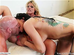 Charisma Cappelli, Romi Rain - rock hard fuck-a-thon milf three way