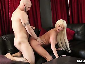 huge-boobed platinum-blonde bombshell Gets Deep penis