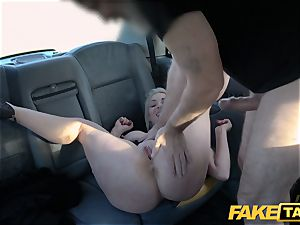 faux taxi towheaded milf Victoria Summers romped in a taxi