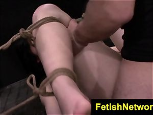 FetishNetwork Montana Sky wire restrain bondage