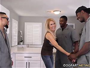 ass-fuck bi-atch milf Erica Lauren interracial gang-fuck