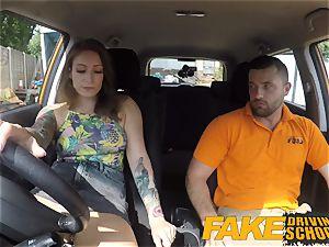 faux Driving college Ava Austen Gets Cum-pensation