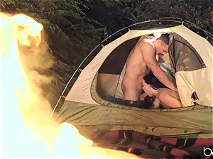 scorching camping man-meat dickblower Whitney Wright