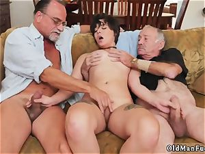 Mature sucks youthfull sausage More 200 years of rod for this mind-blowing brunette!