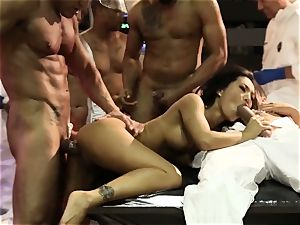 hump Bots group sex with marvelous asian Asa Akira