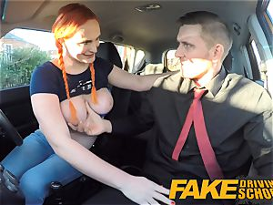 fake Driving school Examiner blasts jizm all over pussy