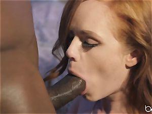 bbc for kinky redhead Ella Huhges