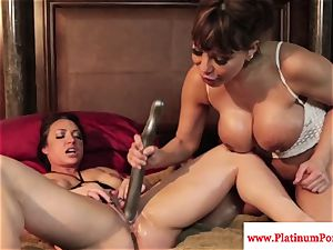 Ava Devine and Brandi May play with their sapphic fucktoys