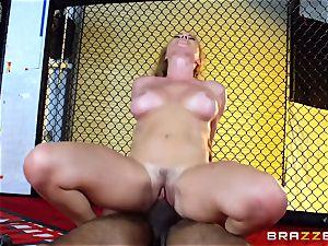 Krissy Lynn gets interracial screwing in the ring