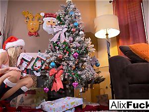 Christmas lesbian romp inbetween two warm femmes