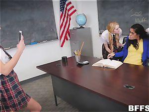 super-naughty schoolgirls seduce super-fucking-hot educator Abby Lee Brazil