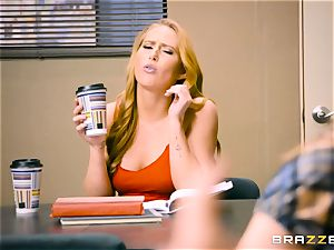 Coffee craving Carter Cruise will do anything
