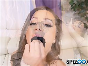 Solo onanism with insatiable Abigail Mac