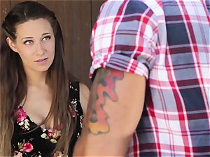 Cassidy Klein gives her fellow a goodbye nailing