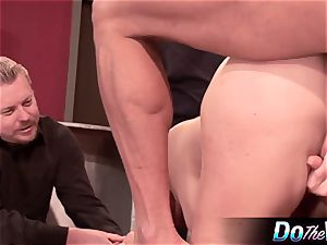 blondie wifey gets her butthole plugged