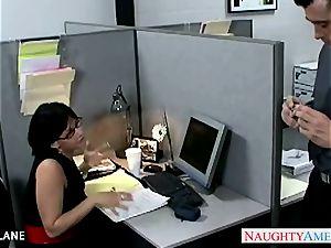 brunette office babe Tory Lane poking