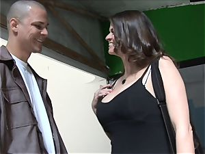 June Summers smokes a phat super-naughty trouser snake